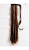 A & ONE Meleg Barna Egyenes Szintetikus Póthaj Copfhoz 65 cm
